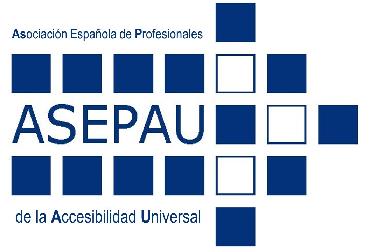 imagen logo ASEPAU Asociación Española de Profesionales de la Accesibilidad Universal