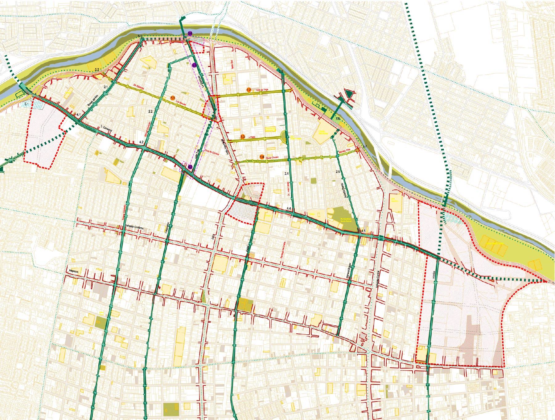 planes urbanos estrategicos - zona intercomunica región metropolitana Santiago