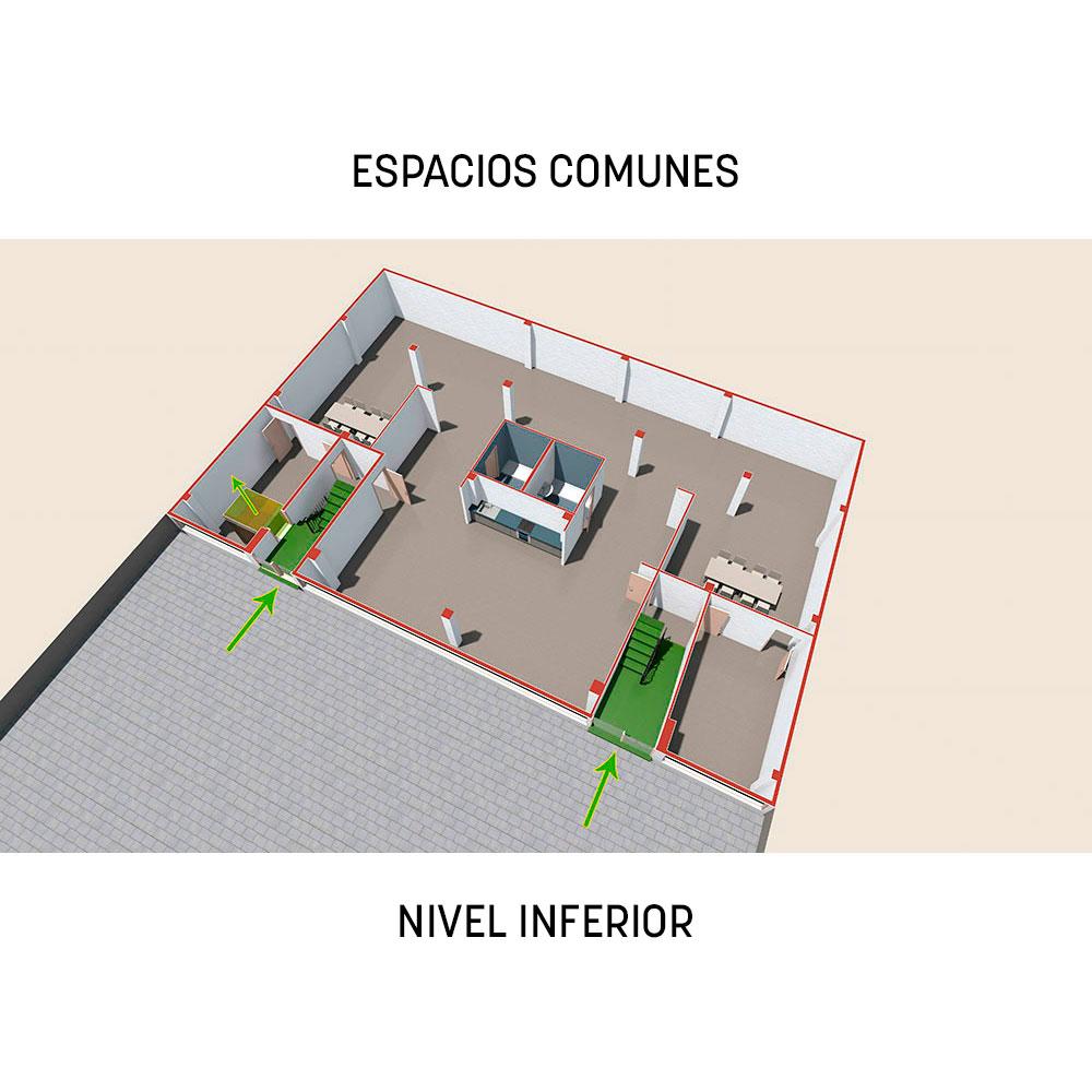 Proyecto Prodis: espacios comunes - nivel inferior